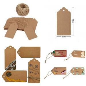 100Pcs Kraft Paper Thank You Tags Wedding Gift Packaging Decoration Hang LabYYB