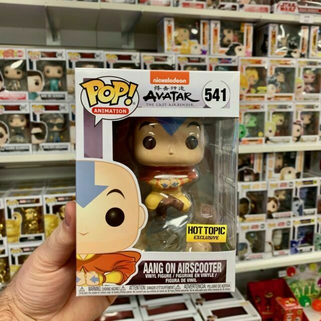 New Funko Pop Aang on Airscooter Avatar #541 Hot Topic Exclusive In Hand