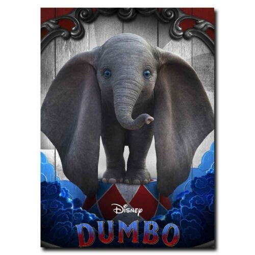 Dumbo 12x18 24x36inch 2019 Movie Silk Poster Door Room Decal Hot Wall Decoration