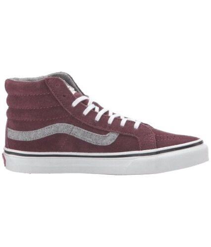 884fef42566b82 2 of 3 VANS Sk8 Hi Slim (Vintage Suede) Red Mahogany Skate MEN S 7.5 WOMEN S  9
