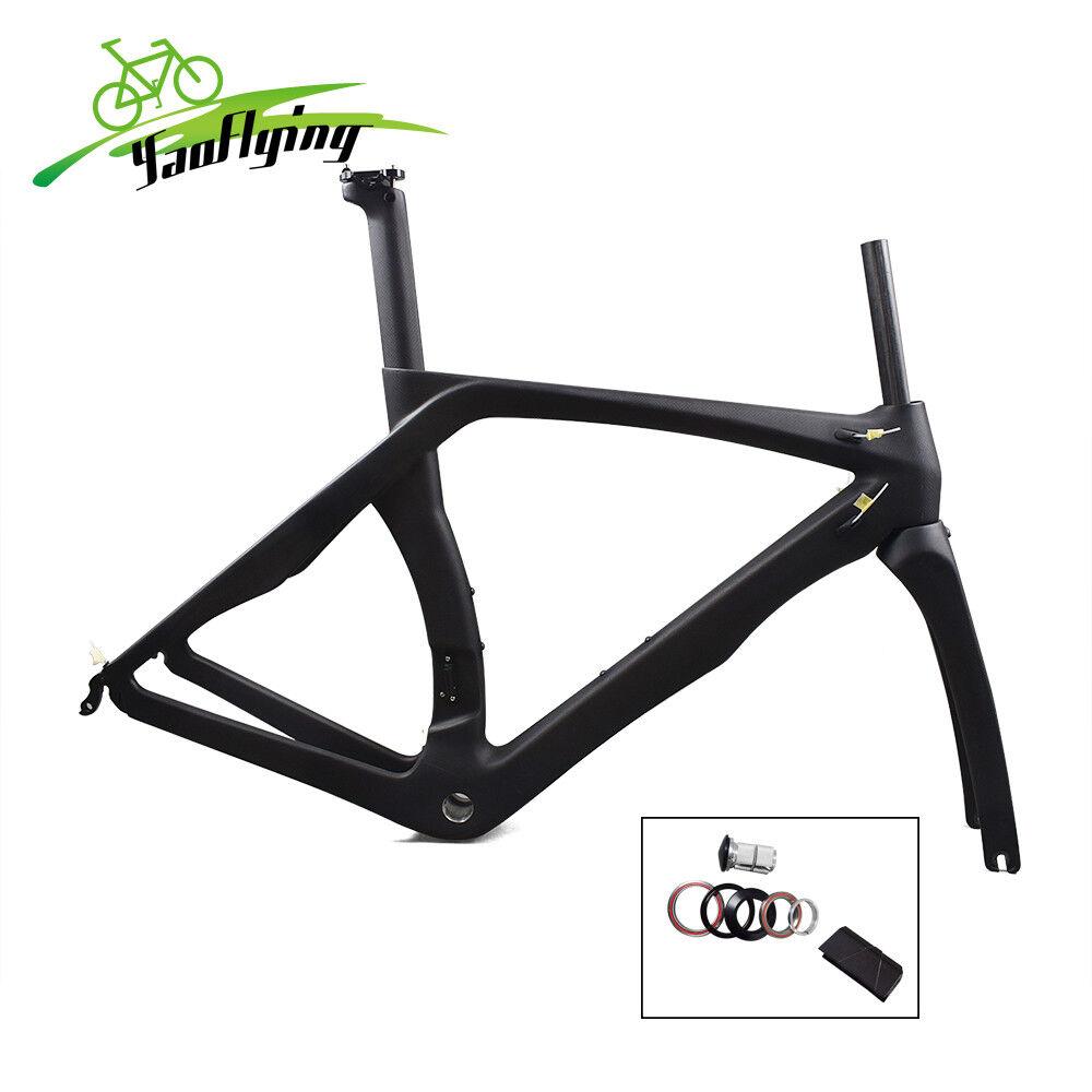2019 carbon road bike frame cycling 700C racing bicycle frameset UV brake