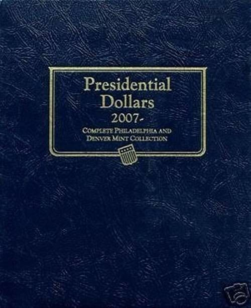 "/""WHITMAN CLASSIC/"" 2227 PRESIDENTIAL DOLLARS 2007 ALBUM P/&D W// FREE SHIPPING!!!"