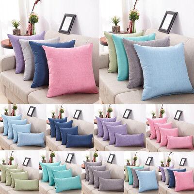 40*40cm Simple Solid Sofa Throw Cushion Cover Cotton Pillow Case Home Decor