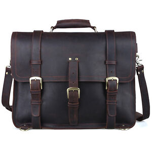Cuir Messager Sac Hommes Laptop Dos À 17 Bag Grand IbfyYv6mg7