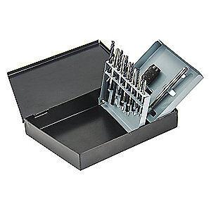WESTWARD Tap and Drill Bit Set,Electrician,13 Pcs 5PXJ0