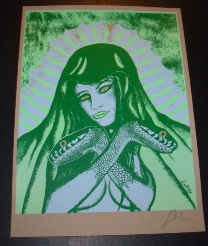 LINDSEY KUHN signed art poster LURE OF THE SWAMP snake woman print