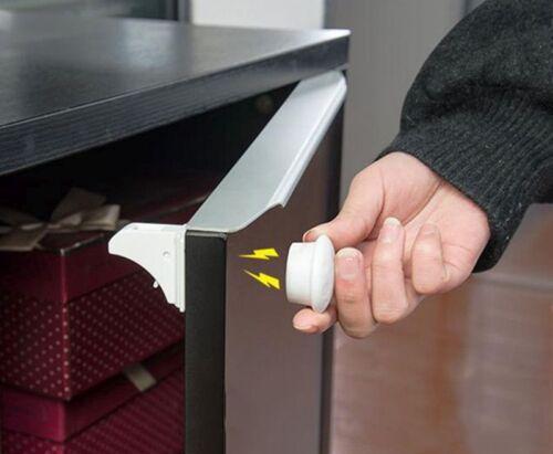 4+1 Unsichtbar Magnetisch Schranksicherung Kindersicherung Schubladensicherung