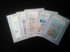 Lot of 5 Microscale N Scale Decals Assorted Complete Sets #1