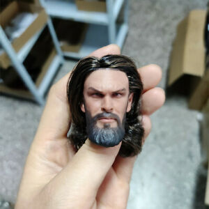 "Personal Customize 1//6 Planted Hair PVC Head Sculpt Carved  Fit 12/"" Figure Body"