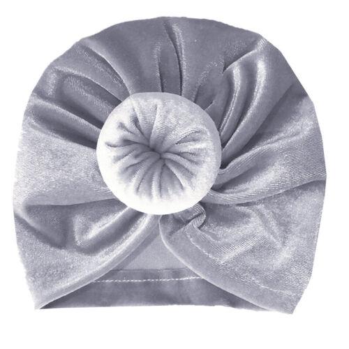 Newborn Infant Baby Bow Knot Flower Turban Head Wrap Girls Boys Cap Beanie Hat