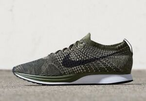 c53270216723 New Nike Flyknit Racer Earth Tones Rough Green Olive Men s Size 10 ...