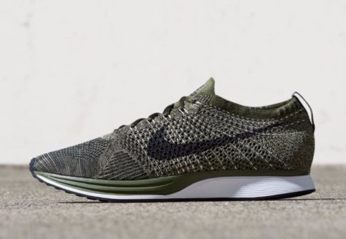 b459f2a14ad8 Nike Flyknit Racer Earth Tones Size 10 Rough Green Olive Black 862713 300 for  sale online