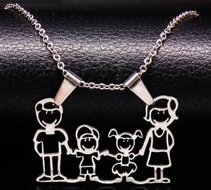 Halskette collier Edelstahl Familie Family Muttertag für Mama necklace Geschenk