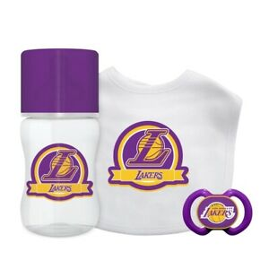 LOS-ANGELES-LAKERS-Baby-Gift-Set-3-Piece-NEW-IN-BOX
