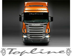 Topline scania griffin truck screen sticker for lorry cab windscreen