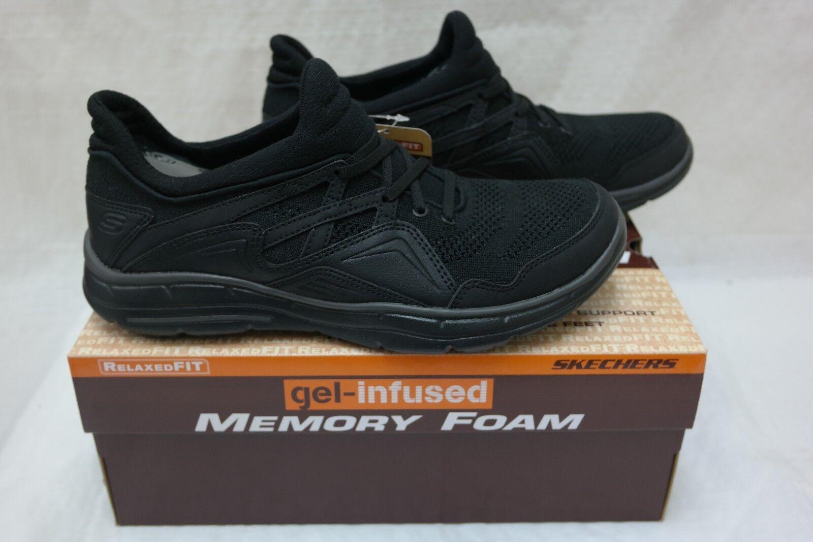 New!!  Skechers  Men's GLIDES-KENTON Casual Sneakers SN65011 Black/Black Z10 Brand discount