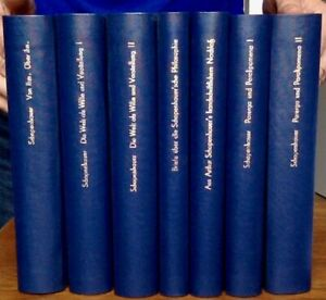 Teils-Erstausgabe-Schopenhauer-A-Frauenstaedt-Hrsg-Werke-7-Bde-1854-1864