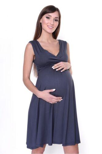 Nouveau Pregnancy Maternité Robe Patineuse Col V Sans Manches Taille 8 10 12 14 16 18
