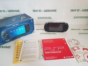Consola-Negro-ORIGINAL-SONY-PSP-1003-en-Caja-Completo-Con-128GB-Tarjeta-de-memoria