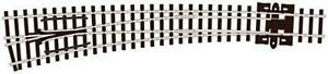 Peco-SL-E387-N-Gauge-L-H-Curved-Double-Radius-Electrofrog-Turnout-Point