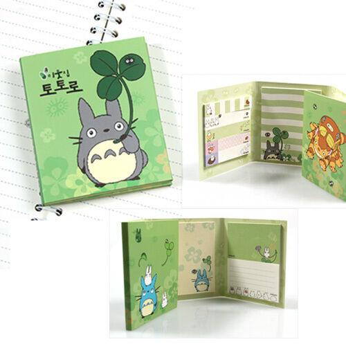 Studio Ghibri Cute Totoro My Neighbor - Sticky Notes Memo Pad Sticker Bookmark