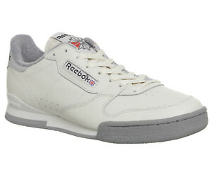 44cd515cf68a7 Reebok Phase 1 84 Archive Trainers Ecru Pure Silver Flat Grey ...