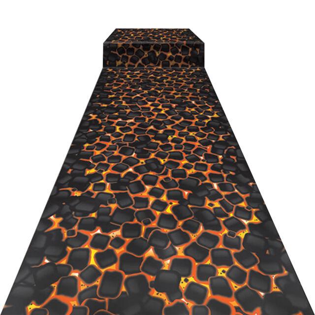 10ft Tropical Luau Hawaiian Party Volcano HOT COALS Floor Runner Decoration