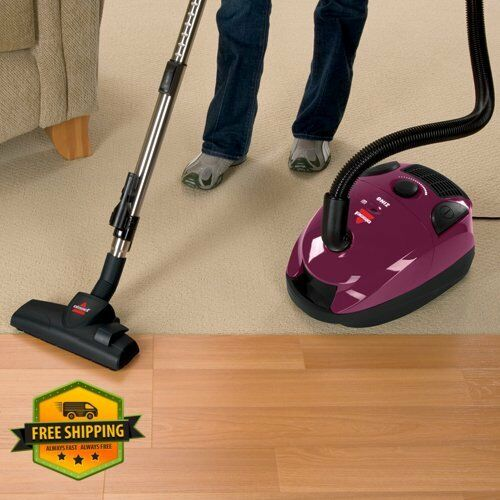 Purple Canister Vacuum Cleaner Compact Cord Bag Home Floor Carpet Vaccum NEW