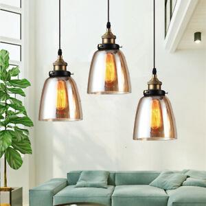 3X-Glass-Pendant-Light-Kitchen-Lamp-Home-Ceiling-Lights-Room-Chandelier-Lighting
