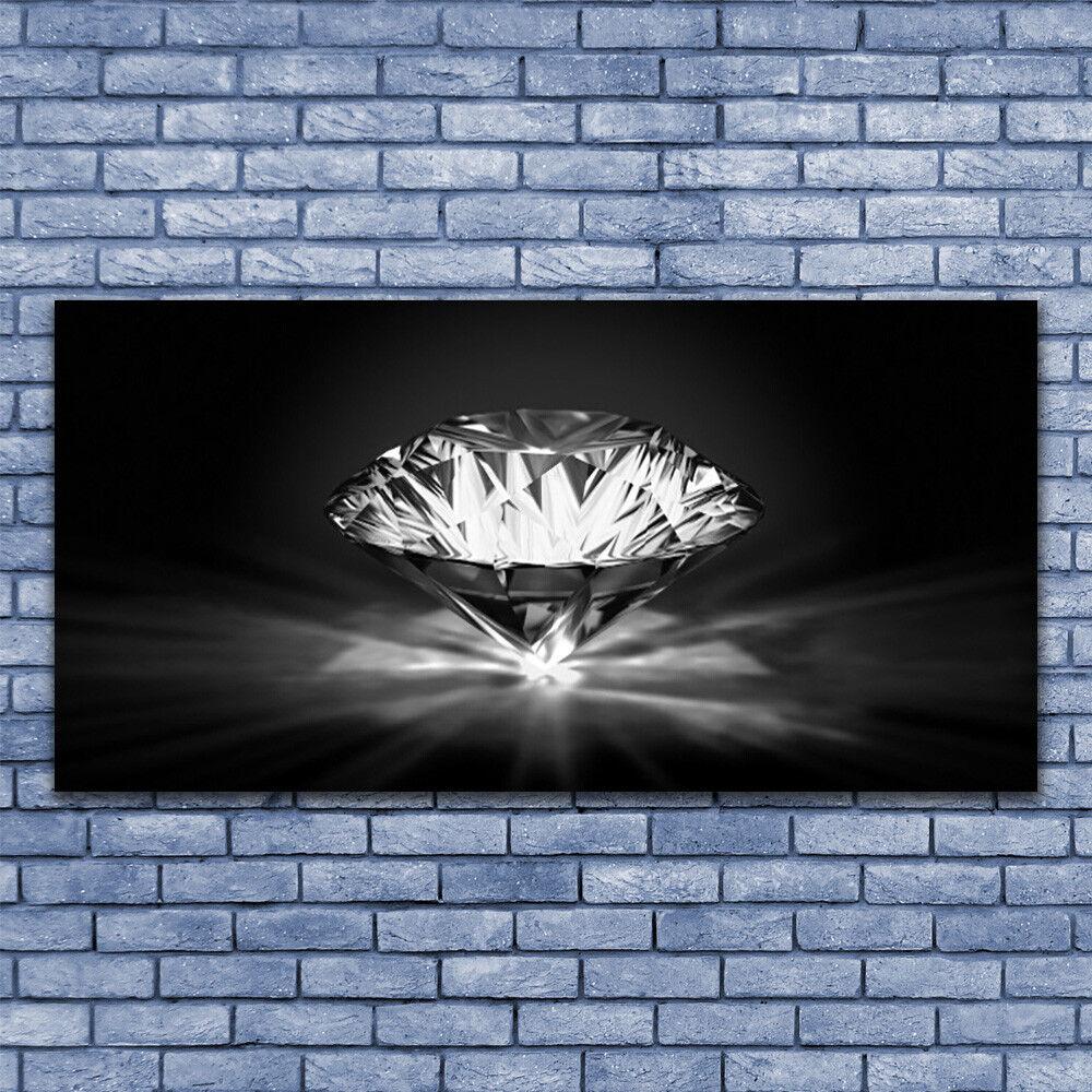 Wandbilder Glasbilder Druck auf Glas 140x70 Diamant Kunst