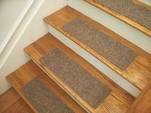 Image is loading Premium-Carpet-Stair-Tread-Sets-Berber-Best-Beige-