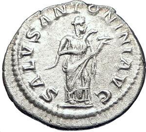ELAGABALUS-218AD-Authentic-Ancient-Silver-Roman-Coin-Salus-Health-i73551