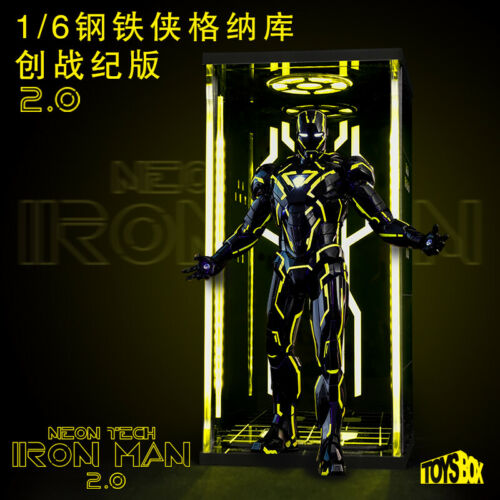 Toys BOX 1//6 Iron Man Figure mk6 gnaku 4.0 Display Case DUST PROOF BOX Lumière DEL
