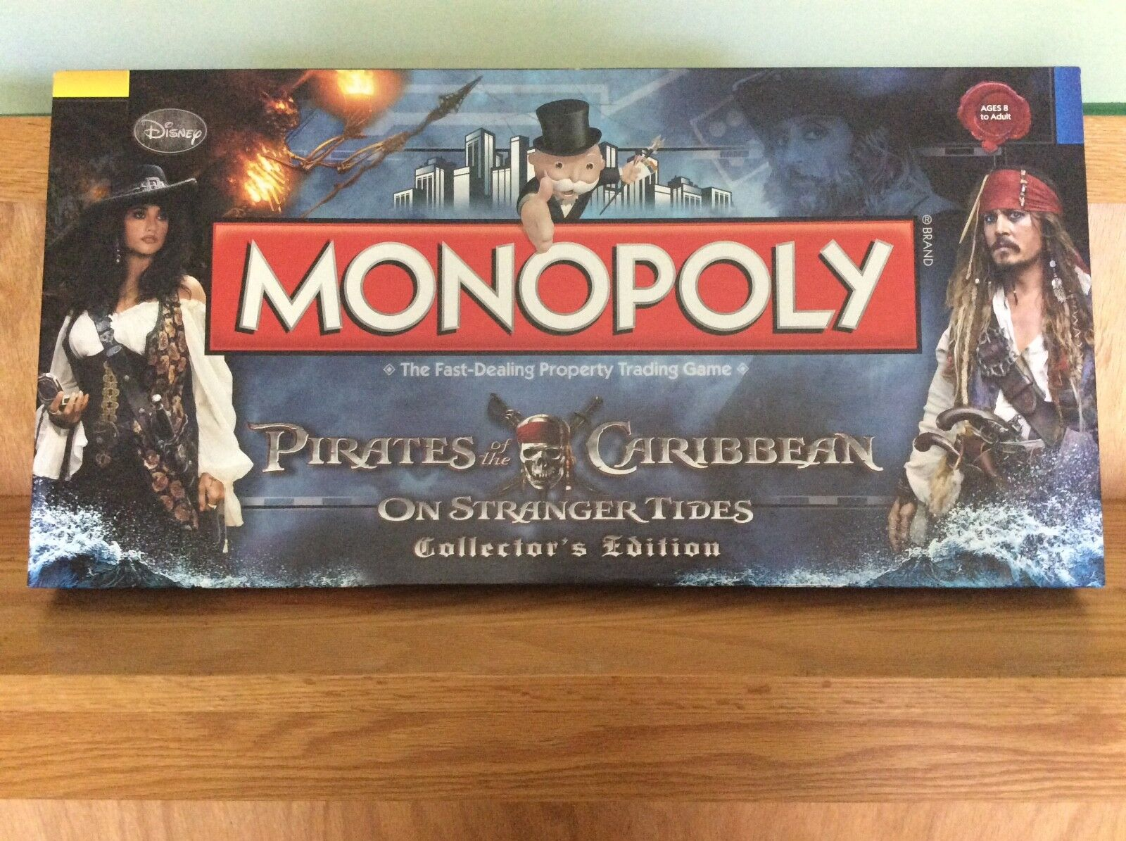 NWB Monopoly Pirates Of The Caribbean On Stranger Tides Collector's Edition
