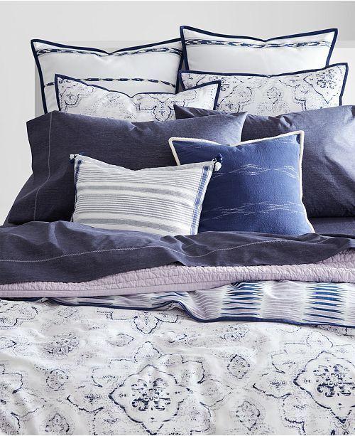 Ralph Lauren Home Luna 3-Pcs Cotton Reversible FULL QUEEN Duvet Cover SET purplec