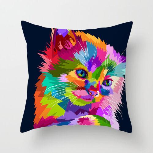 Polyester Rainbow Animal Taie D/'oreiller Housse Canapé Taille Housse de coussin Home Decor
