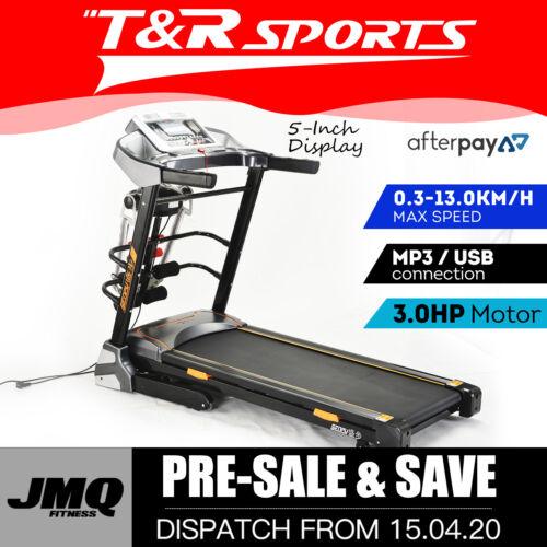 JMQ Fitness SP6606 Folding Incline Treadmill w/ Multi-functional Accessories