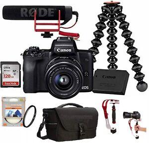 EOS-M50-compacts-Camera-Vlogger-Kit-Lentille-15-45-mm-avec-stabilisateur-video-Steady