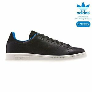 Adidas Stan Smith Shark D65899 Black Blue White Women s Shoes Size ... abc32c682