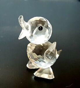 Vintage-Retired-SWAROVSKI-Crystal-DUCKLING-CHICK-Figurine-Ornament-010007