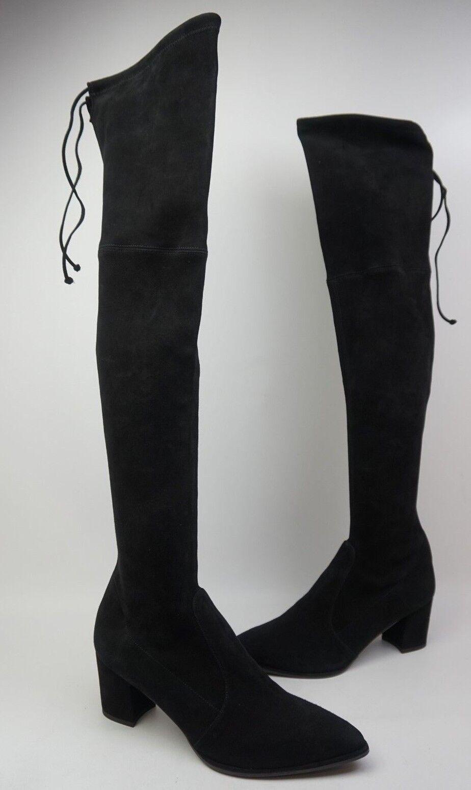 Stuart Weitzman Thighland Schwarz Overknee Stiefel Stiefel Stiefel Größe 10.5 M  97b25d