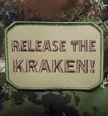 RELEASE THE KRAKEN! TACTICAL ARMY MILITARY MULTICAM VELCRO® BRAND FASTENER PATCH
