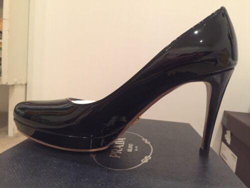 Discount Black with Platform Leather 1cm Patent High Now Heels Pumps Prada New RwqdxHZ