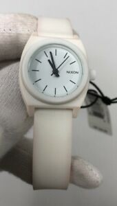 Nixon-Time-Teller-White-Dial-Polycarbonate-Women-039-s-Watch-A425100-A425-100-SD9