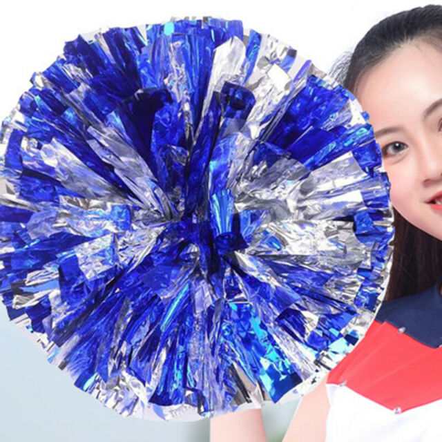 2 Pcs Poms Cheerleader Cheerleading Cheer Pom Dance Party Club Decor Football