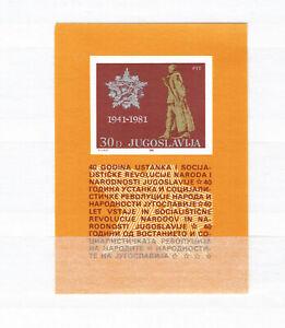Yougoslavie-soulèvement (cachet/**/neuf Sans Charnière) Bloc 19 Apparence EsthéTique
