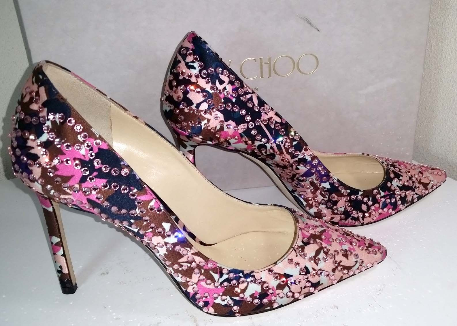 Jimmy Choo Romy Romy Romy Pointy Toe Pump Dahlia Floral Pointed-Toe 100Mm Heels schuhe 36.5 00eb9a