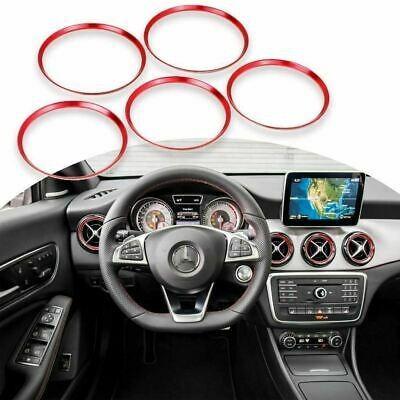 Carbon Fiber ABS Front Air Outlet Rings Cover For Mercedes A Class GLA CLA 13-18