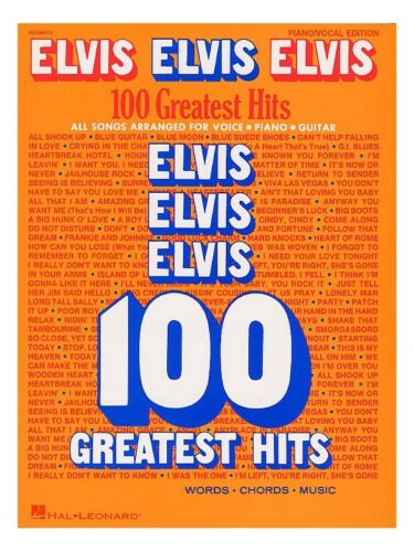 Play Elvis Presley 100 Greatest Hits Piano Vocal Guitar Chord Boxes MUSIC BOOK