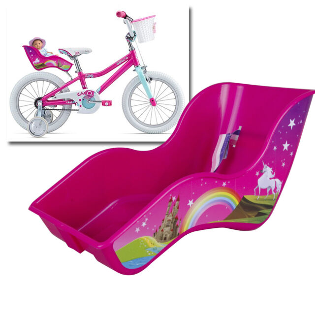 DOLL BIKE SEAT HOLDER FOR GIRL BIKE PINK UNIVERSAL FIXING SYSTEM RIGID SHAPE TOY